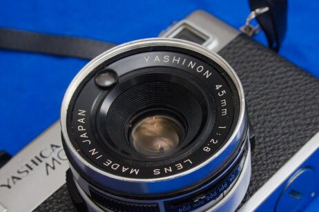 The lens of the Yashica MG-1